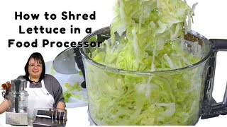 How to Shred Leтtuce in a Food Processor   Shredded Lettuce   Magimix 4200XL Food Processor