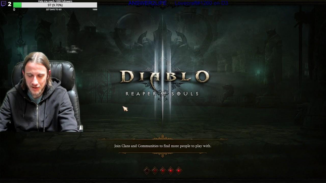 Playing Diablo 3 Level 1 Necromancer  Season 17 Leveling 1-70 and building  Lon Thorns build