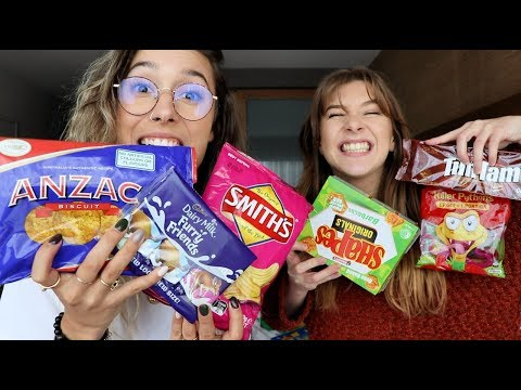 Trying Australian Snacks w/ Georgia Productions
