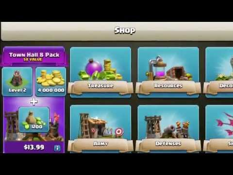 Clash of clans Townhall 6,8,9 5x Value packs