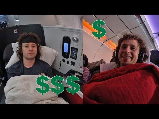 Avión primera clase COSTOSO vs MUY COSTOSO   Gran diferencia!