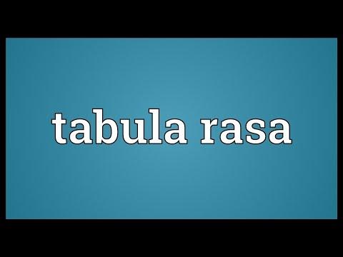Tabula rasa Meaning