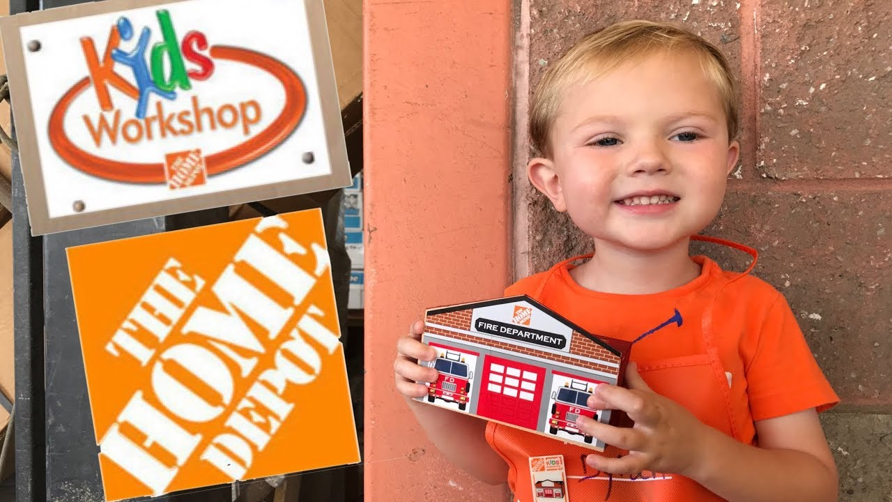 Bank Home Depot Kids Workshop At The Home Depot Toddler Makes A Firehouse Bank At Home Depot S Kid Craft Day