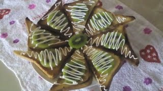 Тосты с киви,закуски(можно в пост)\toast with kiwi, snacks