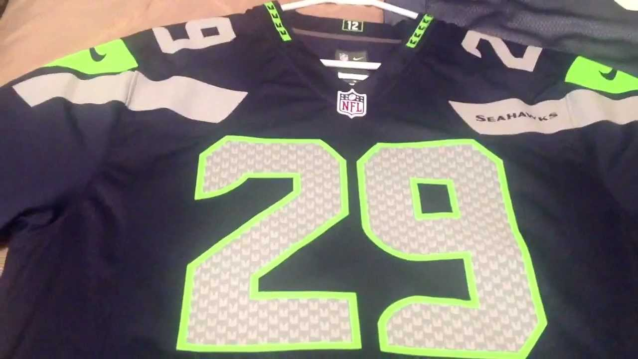 dd22a64ef61 New NFL Nike Seattle Seahawks Jersey Review - YouTube