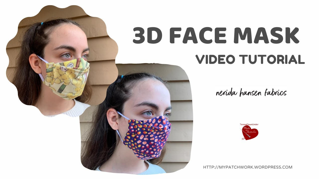 3D face mask - template free - video tutorial