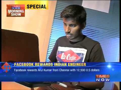 Facebook rewards Indian engineer