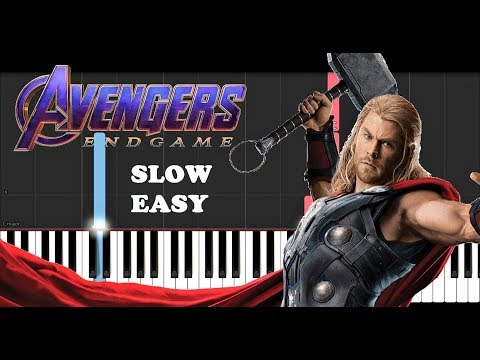 Avengers End Game - Portals (SLOW EASY PIANO TUTORIAL) thumbnail