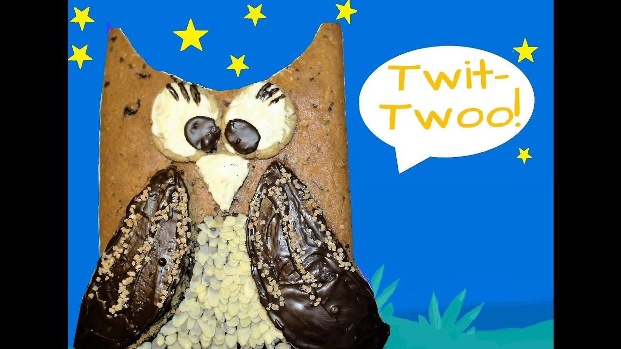 Einfacher Eulenkuchen Anleitung Easy Owl Cake Recipe Youtube