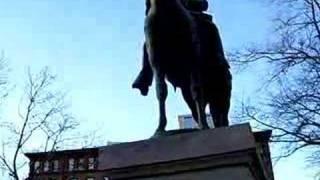 Ambrose Burnside statue in Providence Rhode Island RI