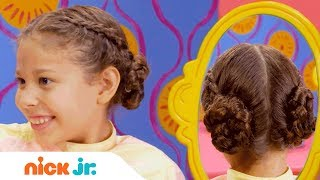How to Make Country Braids🌻  Style Files Hair Tutorial | Sunny Day | Nick Jr.