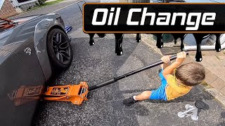How to properly jack and change the oil - Hellcat