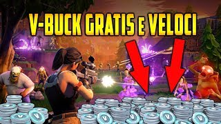 COME FARE V-BUCK FREE and VELOCI your SALVA IL MONDO - FORTNITE ITA