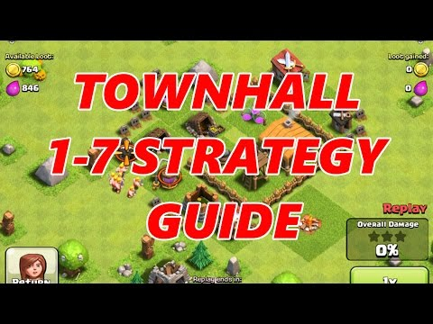 TOWNHALL 1-7 STRATEGY GUIDE FOR BEGINNERS | Clash Of Clans