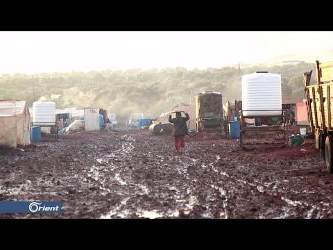 -الشتاء- يزيد الطين بلة على النازحين في المخيمات العشوائية شمال إدلب  - 14:53-2018 / 12 / 9