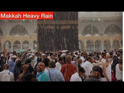 Khana Kaba Beautiful Rain || Makkah Haram Rain