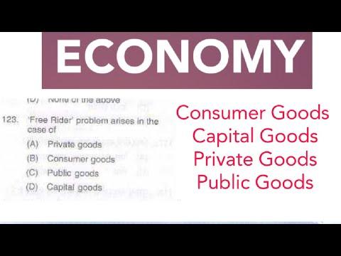 ECONOMY : Consumer Goods  Capital Goods Private Goods Public Goods