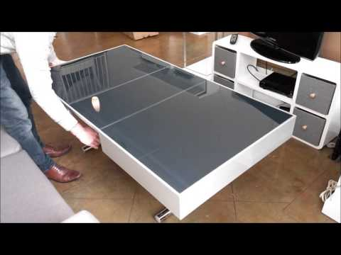 Space Saving Furniture Demonstration with Glass Coffee to Dining table