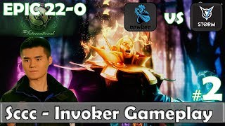 Sccc - Invoker Gameplay | EPIC 22-0 | Newbee vs VGJ Storm Game 2 Group Stage TI 8