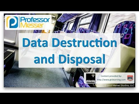 Descargar Video Data Destruction and Disposal - CompTIA A+ 220-902 - 3.6