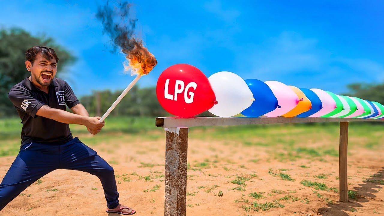 LPG Gas In Balloons - Experiment | सोचा नहीं था ये होगा..?