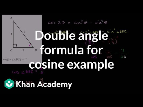 Double angle formula for cosine example | Trig identities and examples | Trigonometry | Khan Academy