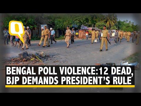 12 Dead in Bengal Poll Violence, BJP Demands President's Rule