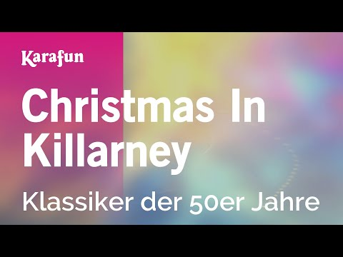 Karaoke Christmas In Killarney - 1950s Standards *