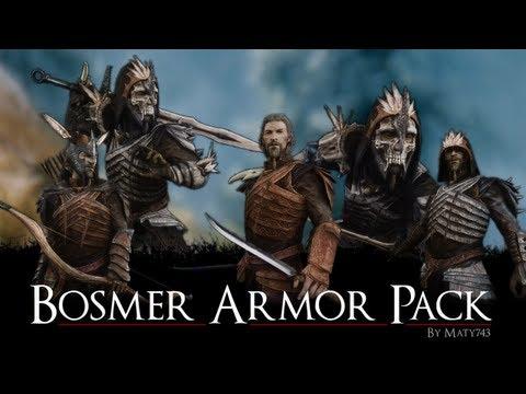 Skyrim Mod: Bosmer Armor Pack