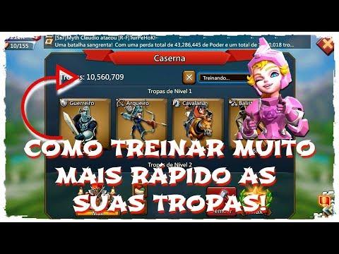 COMO TREINAR TROPAS MUITO MAIS RÁPIDO! Lords Mobile