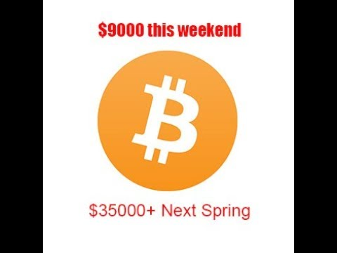 Bitcoin heading to $9,000 or lower in the next week, but will max at over $35,000, predictions