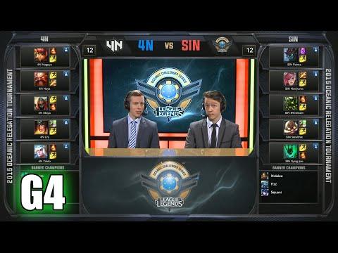 Team 4NOT vs Sin Gaming   Game 4 Relegation Oceanic Pro League Summer 2015   4N vs SIN G4