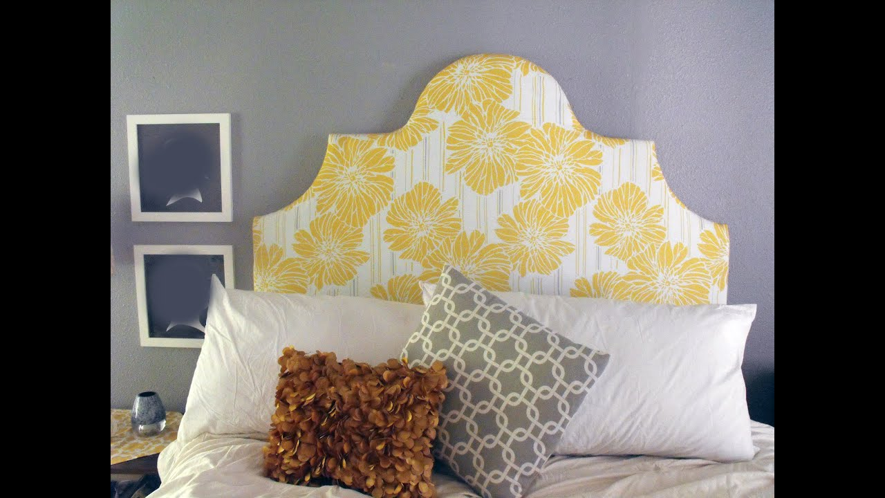 Diy fabric covered headboard instructions - YouTube