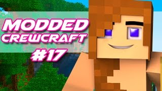"Minecraft - Modded CrewCraft! - ""Redstone TNT Bounce Pad Launcher!"" Episode 17"