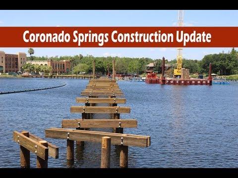 Disney's Coronado Springs Construction Update Live Stream April 2018.