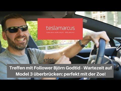 Treffen mit Follower Björn Godtid - Wartezeit auf Model 3 mit Zoe perfekt überbrücken 4K