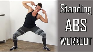 10 Minute Standing Abs Workout – Belly Flattening Abs Exercises at Home – No Equipment