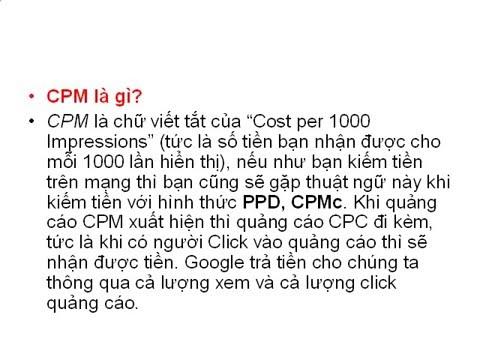Cpm,rpm là gì?