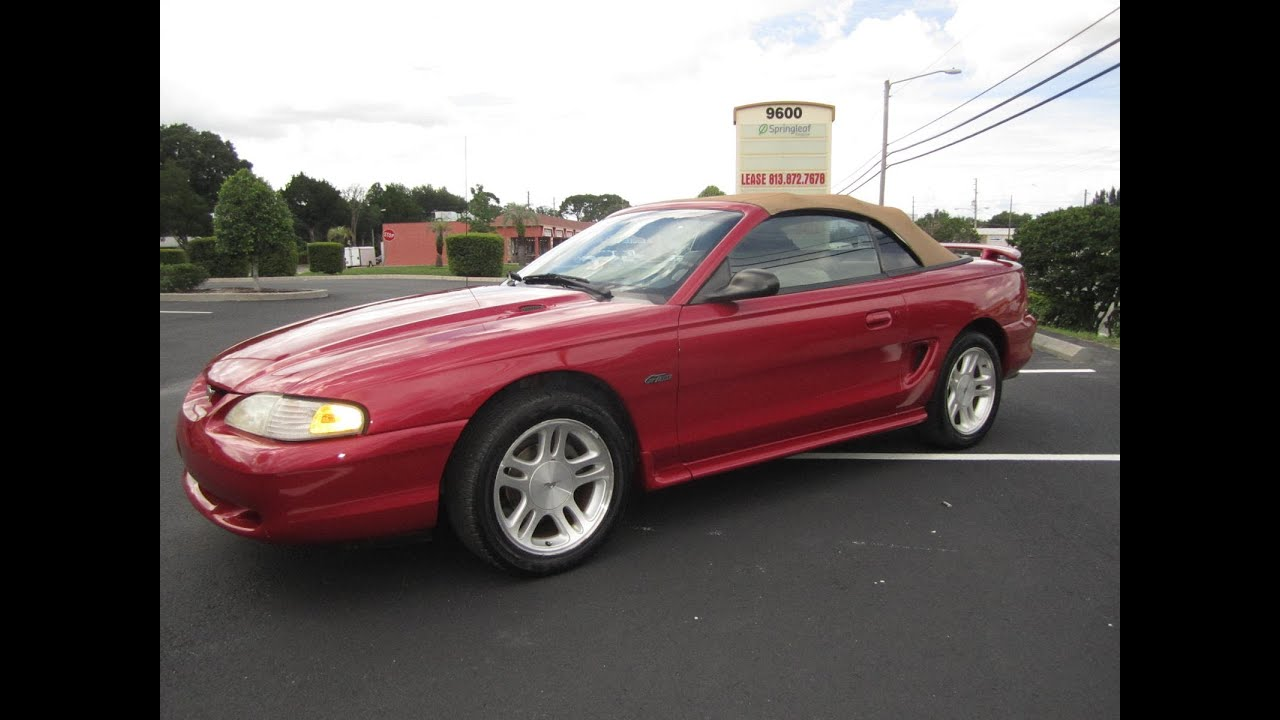 Sold 1998 Ford Mustang Gt Convertible 83k Miles Meticulous Motors Inc Florida For