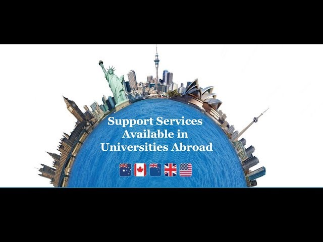 Support services available in universities abroad