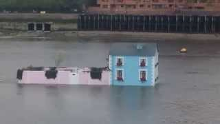 Airbnb Blue Floating House Thames London Marketing Stunt