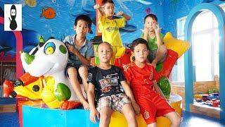 Kids go to School Pretend Play Fishing | Kids Giant Slides Indoor playground Children Song HD Vlad 2