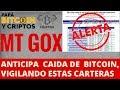 Estas carteras de Bitcoin-Mt.Gox, generaran caída de precios.