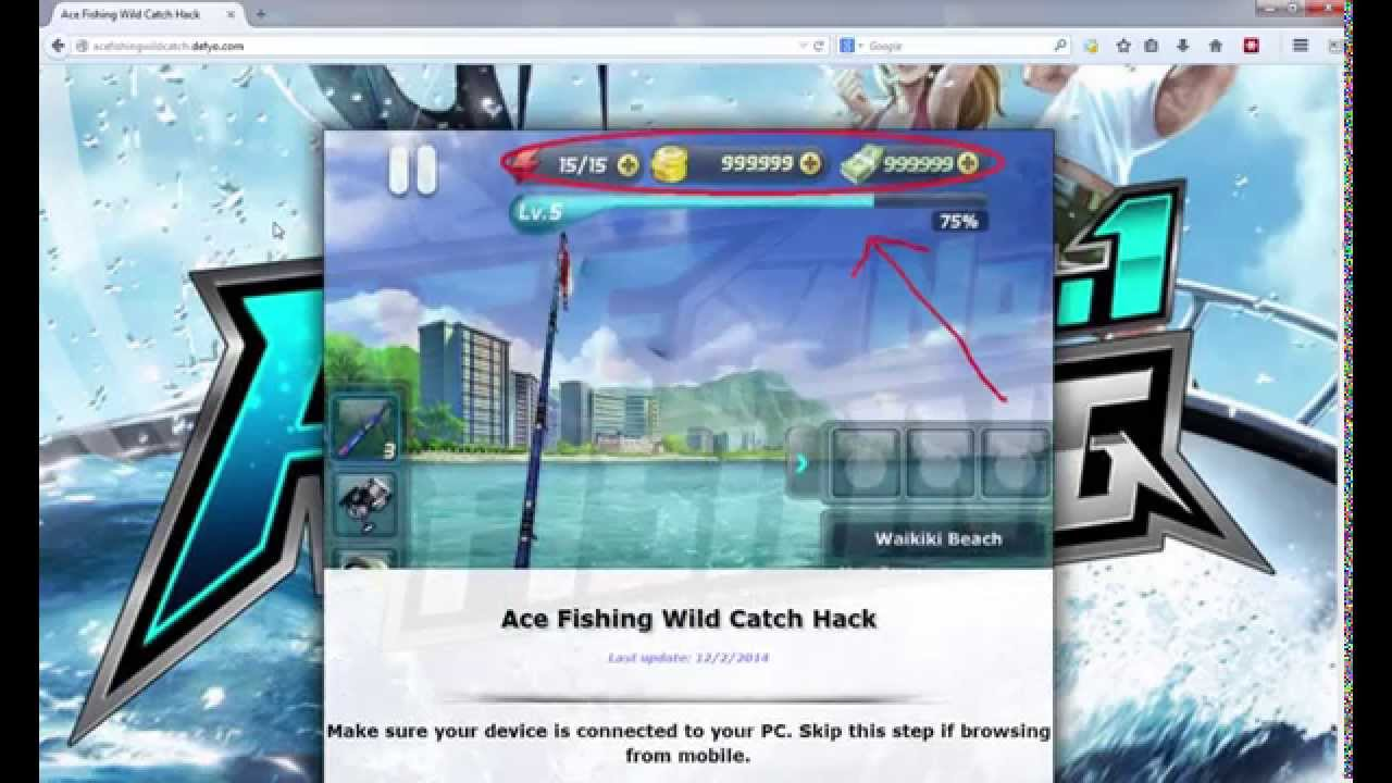 Ace Fishing Wild Catch Hack - Tutorial and Proof of Ace Fishing Wild Catch  Cheats - YouTube