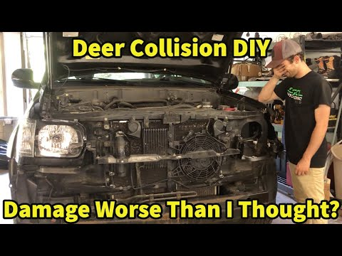 Getting My Toyota Sequoia Build Show Ready! DIY Deer Collision Fix