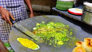 King Of Vadodara For Egg Dishes | Cheese Green Tukda Egg Dish | Egg Street Food | Indian Street Food