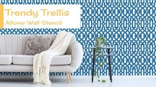 How To Stencil A Feature Wall With a Trellis Stencil by Cutting Edge Stencils