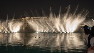 Dubai Fountain Light Super Set Show at Night [HD]