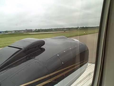 G58 Baron takeoff from Beech Field