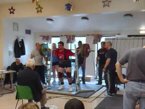 Tom Chantler 280kg 3rd squat  GBPF South Midlands 2009